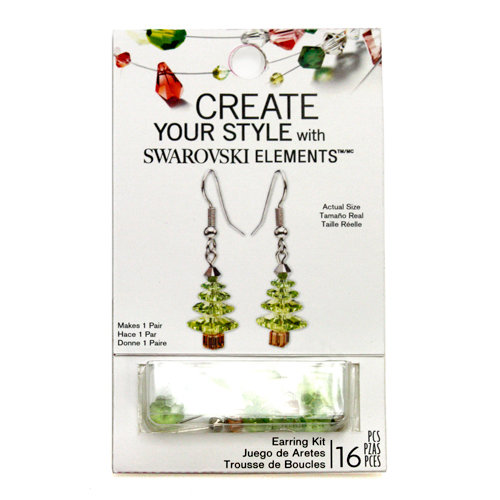 EK Success - Create Your Style - Christmas - Jewelry - Earring Kit - Christmas Tree - Peridot