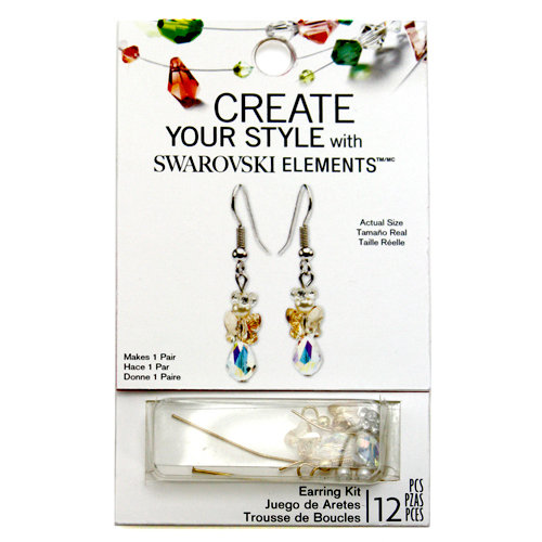 EK Success - Create Your Style - Christmas - Jewelry - Earring Kit - Angel - Golden Shadow