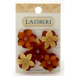 EK Success - Laliberi - Jewelry - Beads - Large Open Flowers - Fall Assorted