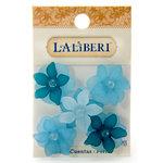 EK Success - Laliberi - Jewelry - Beads - Large Open Flowers - Teal Assorted