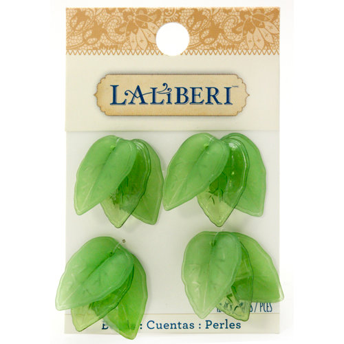 EK Success - Laliberi - Jewelry - Beads - Leaves Medium - Green Assorted