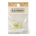 EK Success - Laliberi - Jewelry - Cabochons - Oval Flowers - Ivory