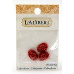 EK Success - Laliberi - Jewelry - Cabochons - Oval Flowers - Pink