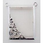 EK Success - Jolee's Jewels - Jewelry Pendant Frame - Paisley Corner - Silver