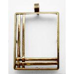 EK Success - Jolee's Jewels - Jewelry Pendant Frame - Basket Weave - Gold
