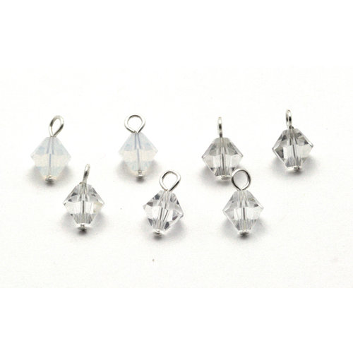 EK Success - Jolee's Jewels - Crystallized Swarovski Elements Collection - Celebrations - Jewelry Dangles - Wedding - Crystal White Mix