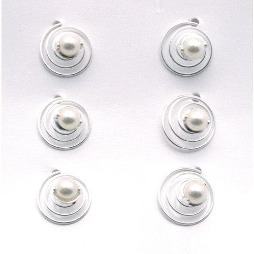 EK Success - Jolee's Jewels - Crystallized Swarovski Elements Collection - Celebrations - Jewelry Hair Spirals - Pearl