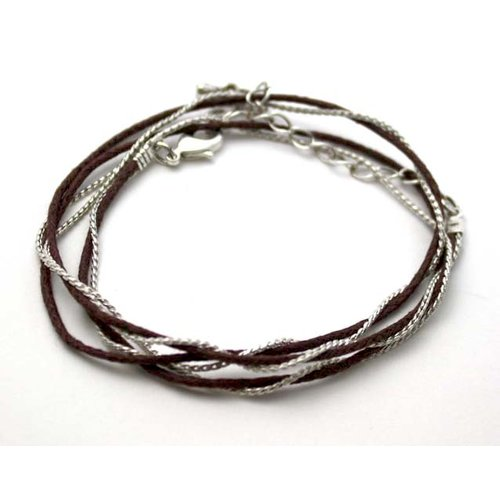EK Success - Jolee's Jewels - Jewelry Cord - 20 Inch Chain and Cord Mix - Silver