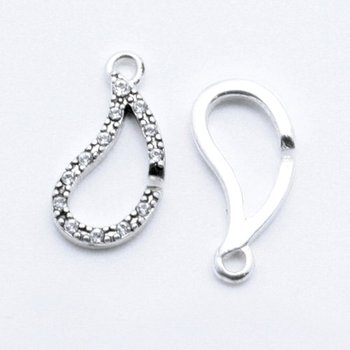 EK Success - Jolee's Jewels - Crystallized Swarovski Elements Collection - Celebrations - Jewelry Clasps - Tears of Joy - Crystal