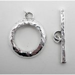 EK Success - Jolee's Jewels - Jewelry Toggle Closure - Hammered Round - Silver