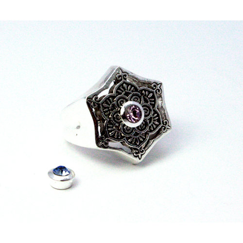 EK Success - Jolee's Jewels - Crystallized Swarovski Elements Collection - Magnetic Jewelry Ring Kit - Meditation - Silver