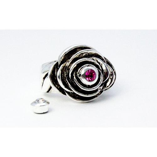 EK Success - Jolee's Jewels - Crystallized Swarovski Elements Collection - Magnetic Jewelry Ring Kit - Rosalita Bloom - Silver