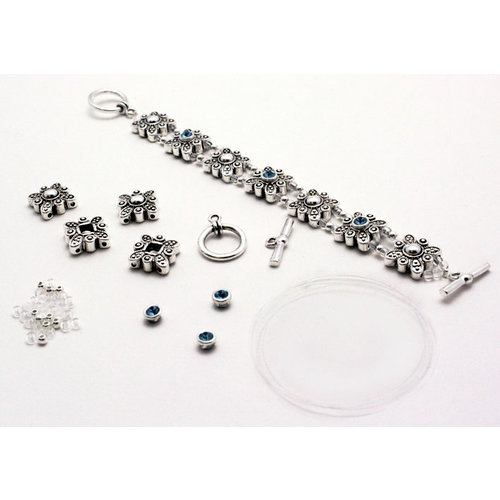EK Success - Jolee's Jewels - Crystallized Swarovski Elements Collection - Magnetic Jewelry Butterly Slider Bracelet Kit - Silver