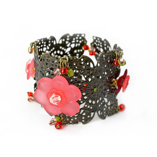 EK Success - Laliberi - Jewelry - Bracelet Kit - Floral Section Cuff