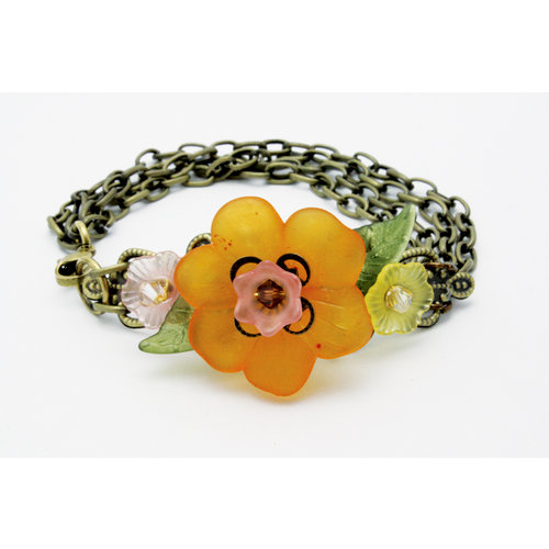 EK Success - Laliberi - Jewelry - Bracelet Kit - Chains and Triple Flowers
