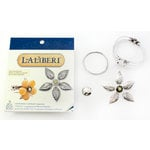 EK Success - Laliberi - Vintage Petals Collection - Jewelry Cuff Component Kit - Palm Leaf - Pinwheel - Silver