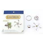 EK Success - Laliberi - Vintage Petals Collection - Jewelry Ring Component Kit - Deco Sway - Silver