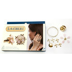 EK Success - Laliberi - Vintage Petals Collection - Jewelry Ring Kit - Fleur de Leaves - Gold