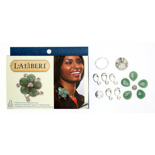 EK Success - Laliberi - Vintage Petals Collection - Jewelry Multi Kit - Swirl Leaves - Silver
