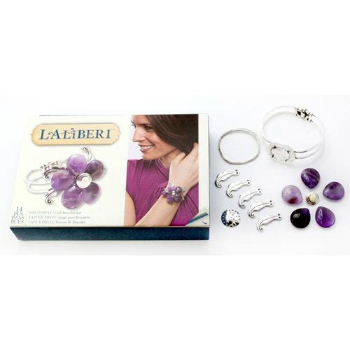 EK Success - Laliberi - Vintage Petals Collection - Jewelry Cuff Kit - Deco Sway - Silver