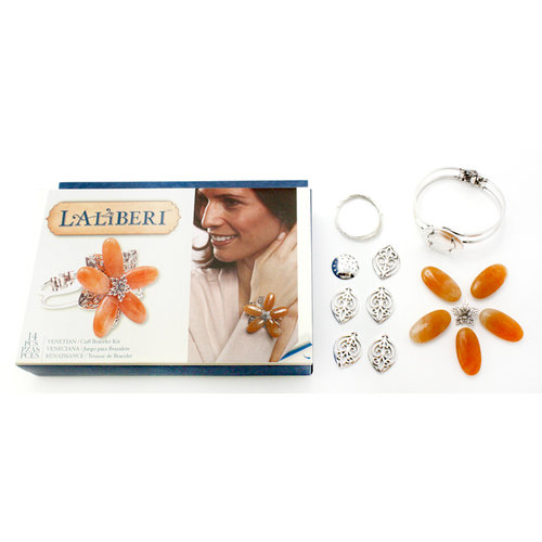 EK Success - Laliberi - Vintage Petals Collection - Jewelry Cuff Kit - Venetian - Silver