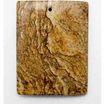 EK Success - Jolee's Jewels - Jewelry Stone Pendant - Rectangular - Picture Jasper