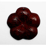 EK Success - Jolee's Jewels - Jewelry Stone Pendant - Engraved Flower - Breciated Jasper