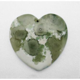 EK Success - Jolee's Jewels - Jewelry Stone Pendant - Heart - Ocean Jasper