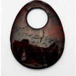 EK Success - Jolee's Jewels - Jewelry Stone Pendant - Donut Drop - Breciated Jasper