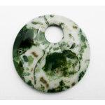 EK Success - Jolee's Jewels - Jewelry Stone Pendant - Top Hole Donut - Moss Agate