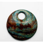 EK Success - Jolee's Jewels - Jewelry Stone Pendant - Top Hole Donut - Jasper Line
