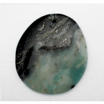 EK Success - Jolee's Jewels - Jewelry Stone Pendant - Top Hole Irregular Drop - Black Amazonite