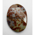 EK Success - Jolee's Jewels - Jewelry Stone Pendant - Top Hole Irregular Drop - Tiger Jasper