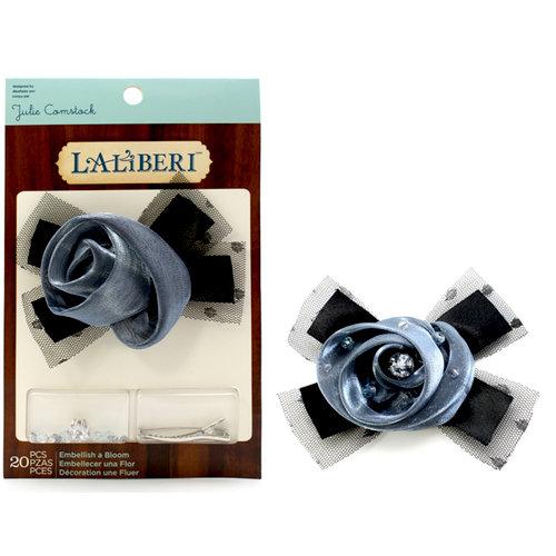 EK Success - Laliberi - Julie Comstock - Jewelry - Embellish a Bloom Kit - Dark Blue Bow