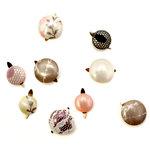 EK Success - Laliberi - Julie Comstock - Jewelry - Fabric Button Brads - Light