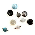 EK Success - Laliberi - Julie Comstock - Jewelry - Fabric Button Brads - Dark