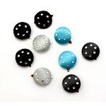 EK Success - Laliberi - Julie Comstock - Jewelry - Jeweled Satin Brads - Dark