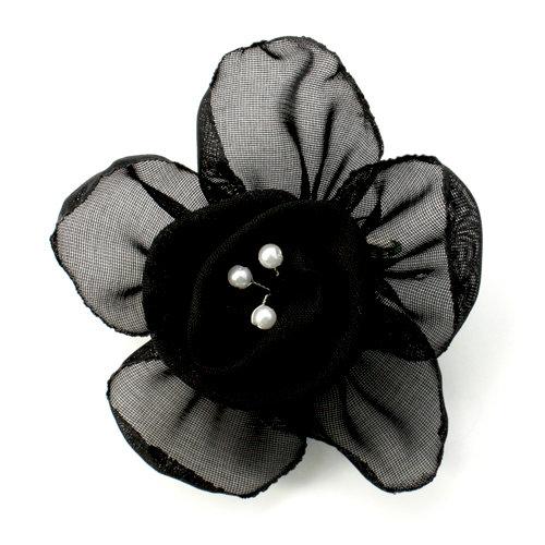 EK Success - Laliberi - Julie Comstock - Jewelry - Ready to Wear Flower - Black Rose