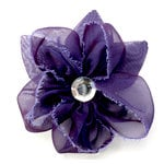 EK Success - Laliberi - Julie Comstock - Jewelry - Ready to Wear Flower - Purple with Leaves