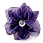 EK Success - Laliberi - Julie Comstock - Jewelry - Ready to Wear Flower - Purple with Leaves