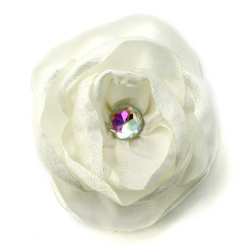 EK Success - Laliberi - Julie Comstock - Jewelry - Ready to Wear Flower - Burned Ivory Rose