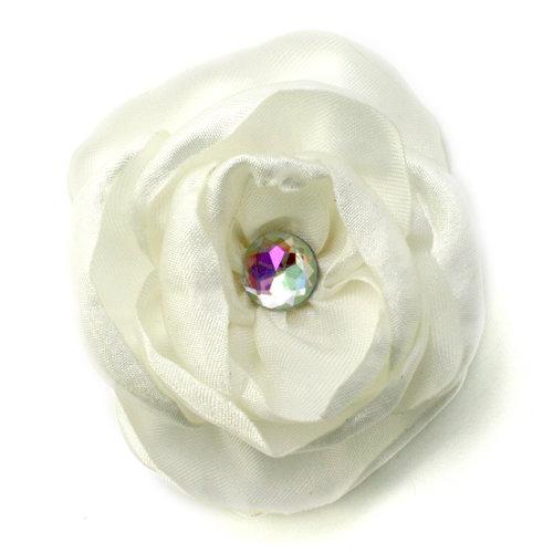 EK Success - Laliberi - Julie Comstock - Jewelry - Ready to Wear Flower - Burned Ivory Rose