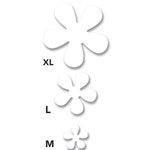 EK Success - Art Blanche - Chipboard Shapes - Retro Flower, CLEARANCE
