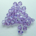 EK Success - Jolee's Jewels - Crystallized Swarovski Elements Collection - Jewelry Beads - Bicone - 4 mm - Light Amethyst