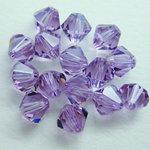 EK Success - Jolee's Jewels - Crystallized Swarovski Elements Collection - Jewelry Beads - Bicone - 6 mm - Light Amethyst