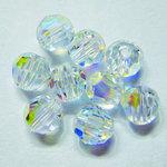 EK Success - Jolee's Jewels - Crystallized Swarovski Elements Collection - Jewelry Beads - Round - 4 mm - Crystal Aurora Borealis