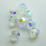 EK Success - Jolee's Jewels - Crystallized Swarovski Elements Collection - Jewelry Beads - Round - 6 mm - Crystal Aurora Borealis