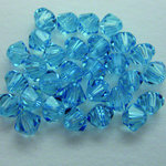 EK Success - Jolee's Jewels - Crystallized Swarovski Elements Collection - Jewelry Beads - Bicone - 4 mm - Aquamarine