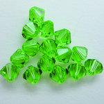 EK Success - Jolee's Jewels - Crystallized Swarovski Elements Collection - Jewelry Beads - Bicone - 6 mm - Peridot