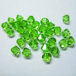 EK Success - Jolee's Jewels - Crystallized Swarovski Elements Collection - Jewelry Beads - Bicone - 4 mm - Peridot